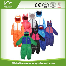Poliestere per ragazze e ragazzi Cartoon Raincoats Rainsuit
