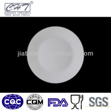Top grade fine bone china wholesale hotel used ceramic dinner plates