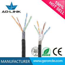Cable al aire libre FTP Lan Cat5 con cinta adhesiva de aluminio