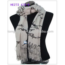 Inverno de moda tricô cachecol