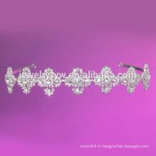Perle de perle centrale avec apparence de fleurs Bande de bande Bandeau