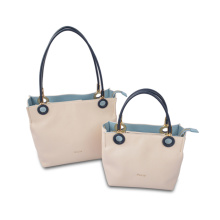 Modern Organizer Beige Color Medium Shoulder Leather Bag