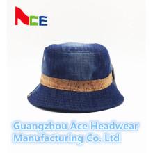 2016 Neuer Art- und Weiseblauer Jean-Ebenen-Wannen-Hut für Großverkauf (ACEK0015)