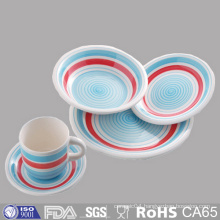 Cheap Price Glazed Ceramic Dinner Plates and Mug