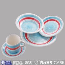 Preço barato placas de jantar de cerâmica vitrificada e caneca