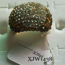 Anel de cristal banhado a ouro (XJW1438)