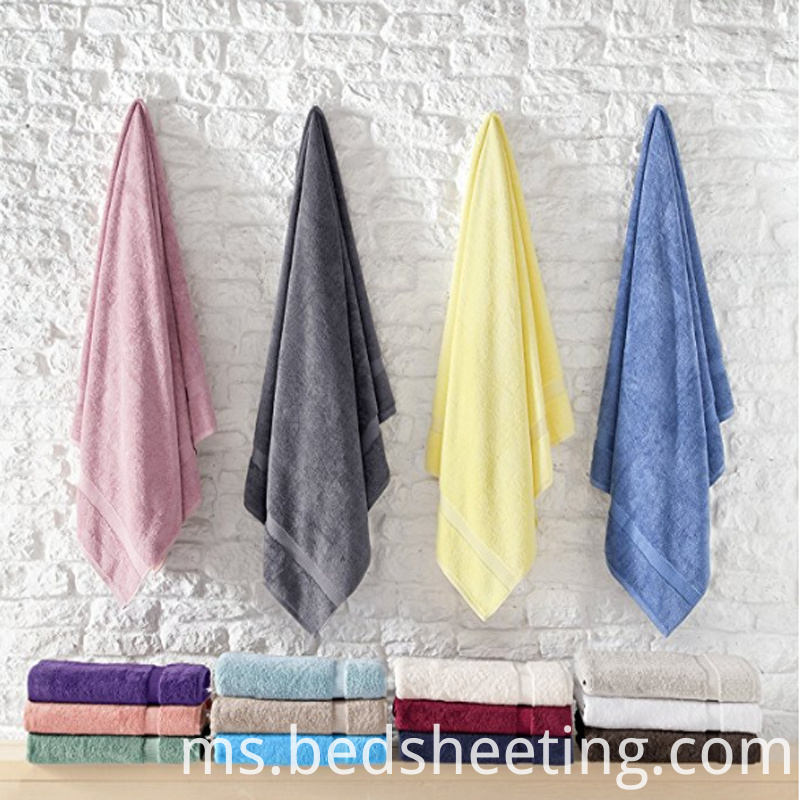 Solid Color Hotel Cotton Bath Towels