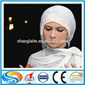 Fabricante poliéster voile tejido cuadrado bufanda