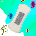 Super soft comfortable cotton pantyliner with herbal infrared anion three in one core