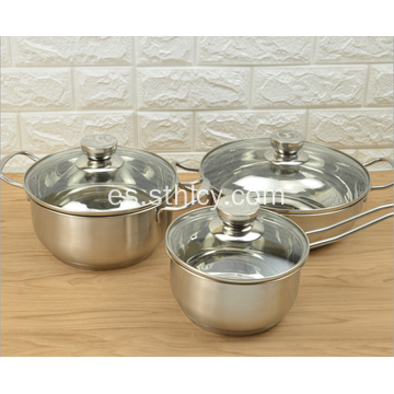 Set de 3 utensilios de cocina de acero inoxidable exquisitos