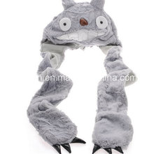 Totoro Schal Hut Handschuhe Integrierter Plüsch