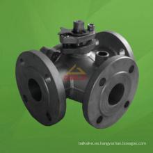 Válvula de bola de tres vías y puerto encastrado con vapor (GABQ44F)