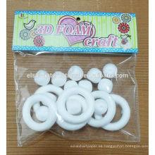 Artesanía con bolas de espuma de poliestireno decoración, bolas de espuma de poliestireno