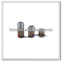 Titular de vela redonda de grãos de madeira T217 de aço inoxidável