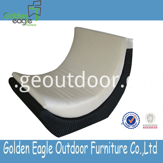 Aluminium Garden Lounger Furniture PE wicker