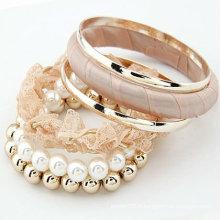 Bracelets en dentelle rose pâle multicolores Bracelets perles BA40