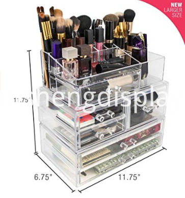 Cosmetics Makeup Jewelry Storage Case