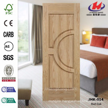 JHK-014 Best Quality France Style Double Moulded Veneer Oak Unequal Double Door Panel