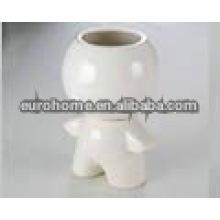 Personalizado porcelana figurine escova pot-162