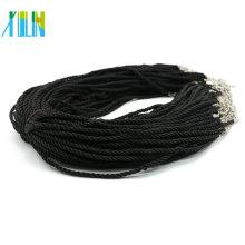 Gute Qualität Einstellbare Twist Silk Cord Halskette für Anhänger machen 100 teile / paket, ZYN0008