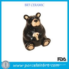 Cerveza negra con huella Ceramic Animal Jar