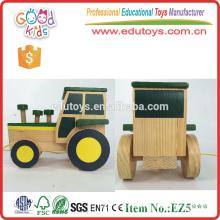 De alta calidad de artesanía de color verde bebé coche de juguete con cuerdas