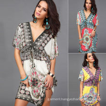 Fashion Long Sleeves Rayon Beautiful Women Kaftan (Xy00115)