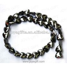 Perles de coeur d'hématite magnétique en vrac de 12 mm 16 po
