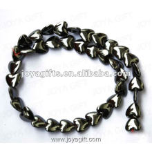 12MM Loose Magnetic Hematite Heart Beads 16""