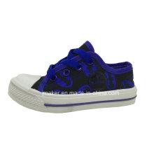 Zapatillas de deporte de lona de los niños de la impresión de los labios (5122-S & B)
