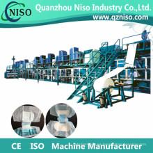 Máquina de producción de pañales para adultos completa servo profesional con certificación CE