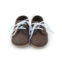 Newness Design Air Hole Läder Baby Oxfords