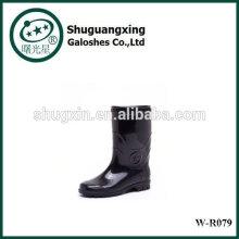 Bottes de pluie transparente BootsPVC pluie de l'homme de qualité pour chaussures de pluie de l'homme homme fond plat mode W-R079