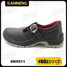 Leather Safety Sandal with PU/PU Outsole and Steel Toe (SN5511)