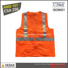 ANSI107 Class 2 Men′s Hi Vis Reflective Vest
