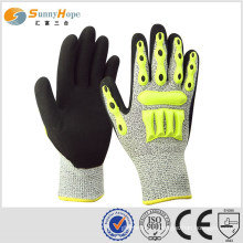 sunnyhope TPR impact resistant gloves, knitted with HPPE