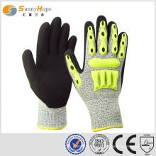 Sunnyhope TPR ударопрочные перчатки, вязаные с HPPE