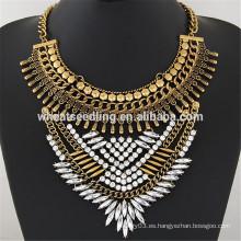 Las mujeres conocidas de encargo del collar del metal de la voga clásica retra del collar
