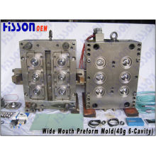 6-Cavity 40g Wide Mouth Jar Pet Preform Injection Mould