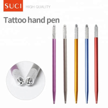SUCI einfache Metallgriff Augenbraue Microblading Make-up Tattoo Pen