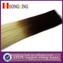 100% humano remy 2.5g / piece extensões de cabelo de fita de fusão