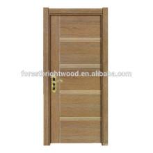 Estilo simple habitación puerta interior de melamina de madera