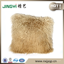 Cojín de piel de cordero tibetano de Mongolia
