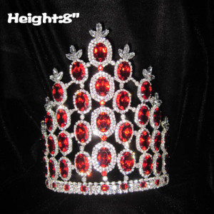 Coronas de reina de cristal de diamante rojo