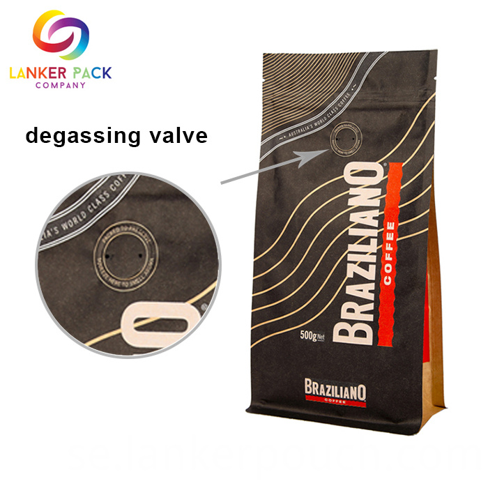 Kraft Coffee Bags With Valve
