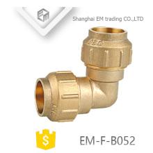 EM-F-B052 Spanien PE-Fitting mit Messing-O-Ring Kompression gleichen Winkel Rohrverschraubung