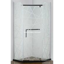 Gabinete de ducha de bisagra simple sin marco (AS-940N)