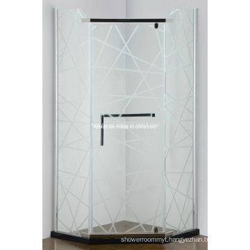 Simple Frameless Hinge Shower Enclosure (AS-940N)