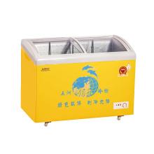Curve Sliding Toughened Coating Porta de vidro (para reforçar o reflexo de calor) Freezer