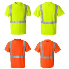 running leisure hi viz shirt cutome logo